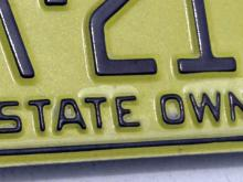 State-owned vehicle, state license plate