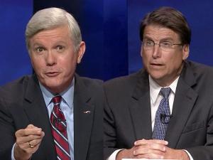 Walter Dalton and Pat McCrory in the Oct. 24 debate
