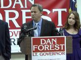 Lt. Gov.-elect Dan Forest news conference