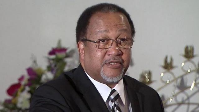 Rev. Ben Chavis, a member of the Wilmington 10 group of civil rights activists, says during a Dec. 28, 2012, news conference that he and others don't want partial pardons from Gov. Beverly Perdue.