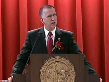 House Speaker Thom Tillis speaks during the opening day of the 2013 legislative session on Jan. 9, 2013.