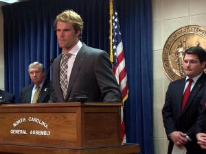 Carolina Panthers' Greg Olson lobbies for the Pulse Oximetry bill, H105.