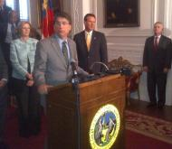 Gov. Pat McCrory at the Executive Mansion
