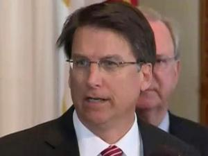 Gov. Pat McCrory unveils his $20.6 billion budget proposal during a March 20, 2013, news conference.