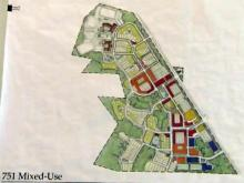 Site plan for proposed 751 South development in Durham