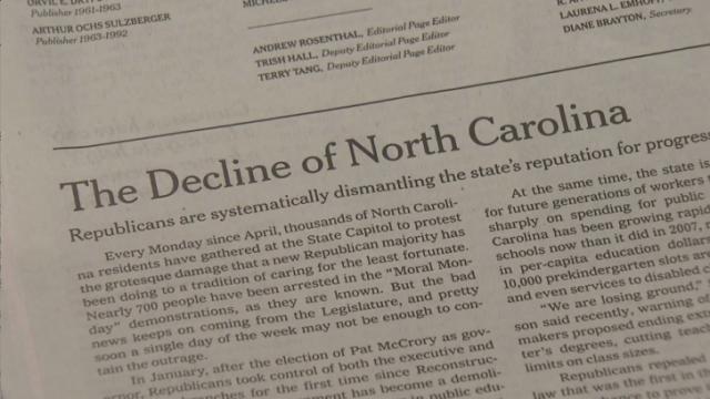 Gov. Pat McCrory responds to New York Times editorial