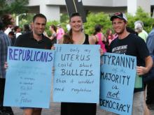Photos from the 11th 'Moral Monday' protest at the state legislative building on July 15, 2013.