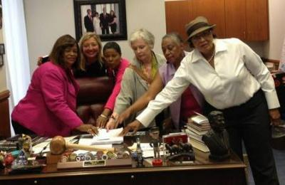 Women deliver petition to Speaker's office