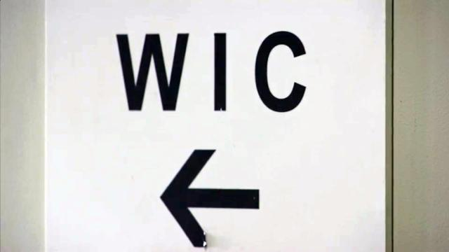 WIC sign, Women, Infants and Children program