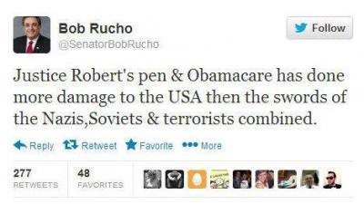 Rucho Obamacare Tweet