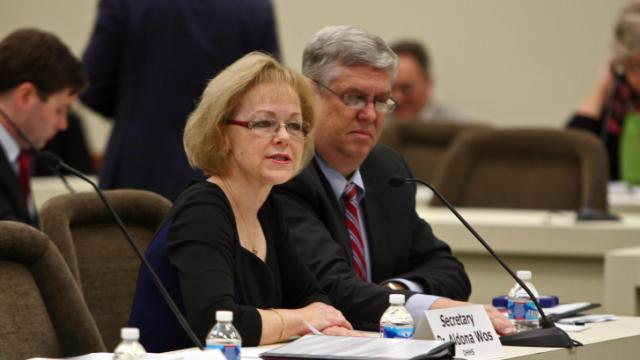 DHHS Sec. Aldona Wos and Chief Compliance Officer Mark Payne