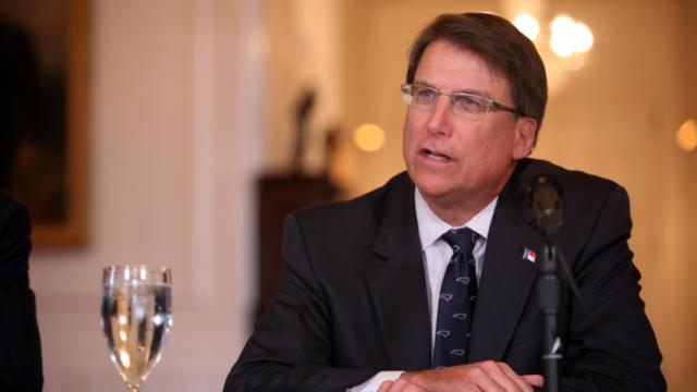 Gov. Pat McCrory holds a news conference at the Governor's Mansion on Jan. 21, 2014