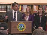 Pat McCrory with teachers