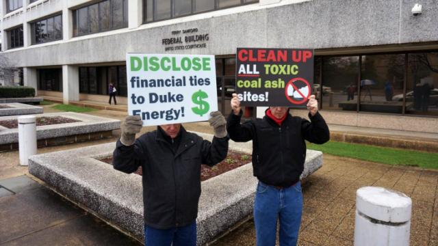 Duke Energy protest in Raleigh