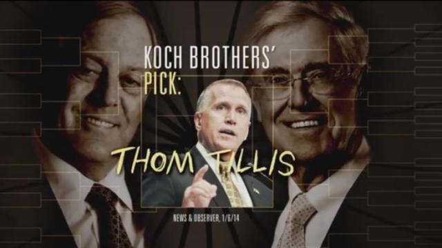 "This is a still image from the Senate Majority PAC's ""Bracket"" ad."