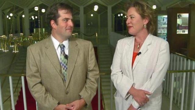 Mark Binker and Laura Leslie
