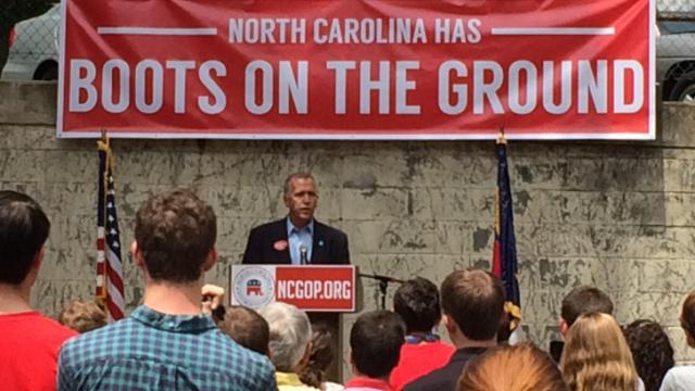 The state Republican Party held a kickoff event Saturday at state GOP headquarters in Raleigh for its grassroots efforts to elect Republicans up and down the party's candidate slate. Tillis and other party notables spoke at the event.