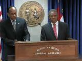House Minority Leader Larry Hall and Senate Minority Leader Dan Blue