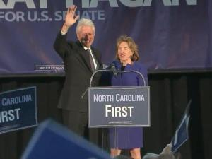 Bill Clinton and Kay Hagan