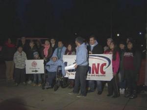 Immigration lawsuit protest