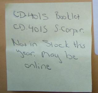 NC DOR sticky note