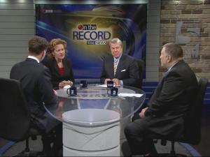 """Rep. Grier Martin, D-Wake, and Rep. Paul """"Skip"""" Stam, R-Wake, go """"On the Record"""" with host David Crabtree and reporter Laura Leslie."""