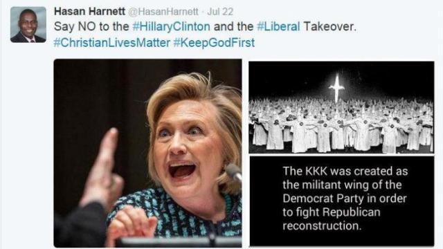 Harnett Clinton Tweet