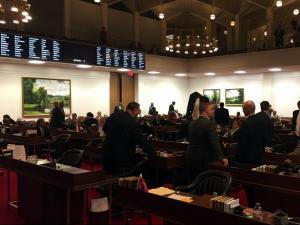 N.C. House prepares to adjourn in the early hours of Sept. 30, 2015.