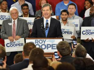 Attorney General Roy Cooper annouces his bid for North Carolina governor on Oct. 12, 2015.