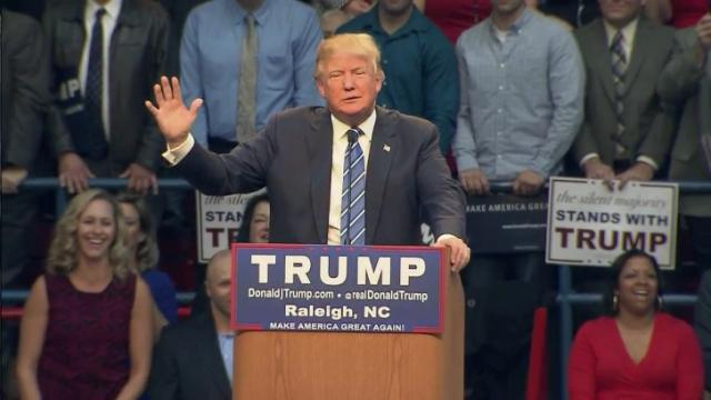 Republican presidential candidate Donald Trump makes a Dec. 4, 2015, campaign stop in Raleigh.