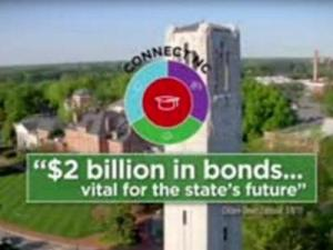 This is a still image from a ad run by the Connect NC bond committee.