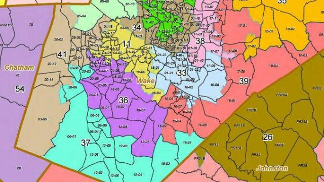 This is a map showing state House Districts in Wake County, including State House District 36, which is based in Cary.