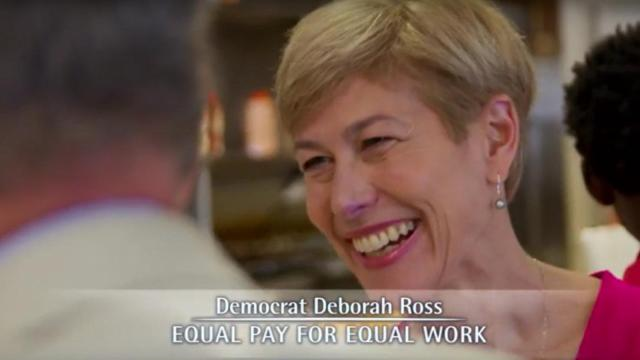 "This is a screen capture of Deborah Ross' ad titled ""Who Says?"" It first went on the air on Feb. 25, 2015."