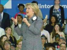 Clinton in friendly territory at Charlotte rally