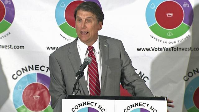 Pat McCrory backs Connect NC bond