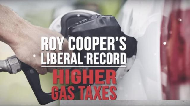 This is a screen grab from a Repbulican Governors Association Ad hitting Roy Cooper on taxes on 4/28.