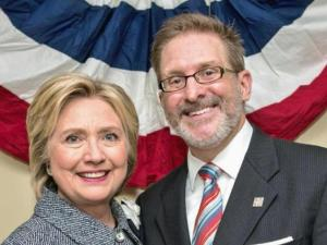 Bruce Thompson and Hillary Clinton