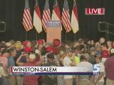 Crowds gather to hear Trump, Pence speak in Winston-Salem