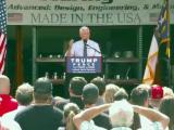 Pence talks manufacturing at NC rally