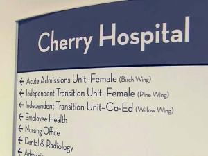 New Cherry Hospital sign