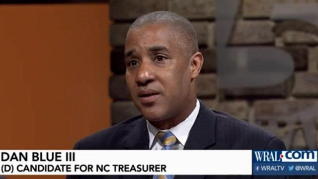 Dan Blue III, candidate for state treasurer, 2016.