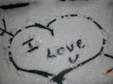 Snow is 'A Beautiful Valentine's Gift'