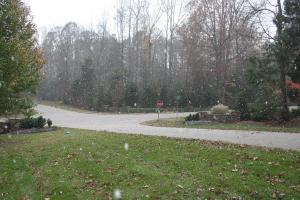 Snow falling at Mt. Vernon and Tredwood Dr. Raleigh