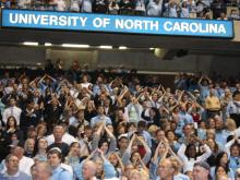 Fans welcome their champion Tar Heels