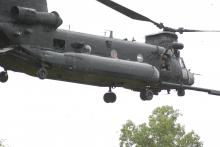 Helicopters land in Rolesville field