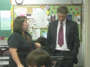 Photos of Bill and Melinda Gates at CIS' Durham Performance Learning Center