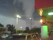 Tornado warnings were issued and funnel clouds reported in Wendell and Zebulon Sunday, April 25, 2010.
