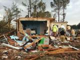 tornado hit 5349 Scott Church Rd Lucama NC