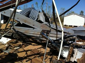 These photos are from ground zero at Ben Martin Elementary School in Fayetteville.  Members of the CCS Technology Dept. secured all technology equipment in the school and CCS maintenance crews secured the building.
