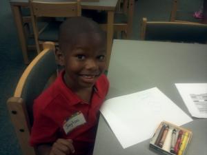 Jaylon's first day of kindergarten